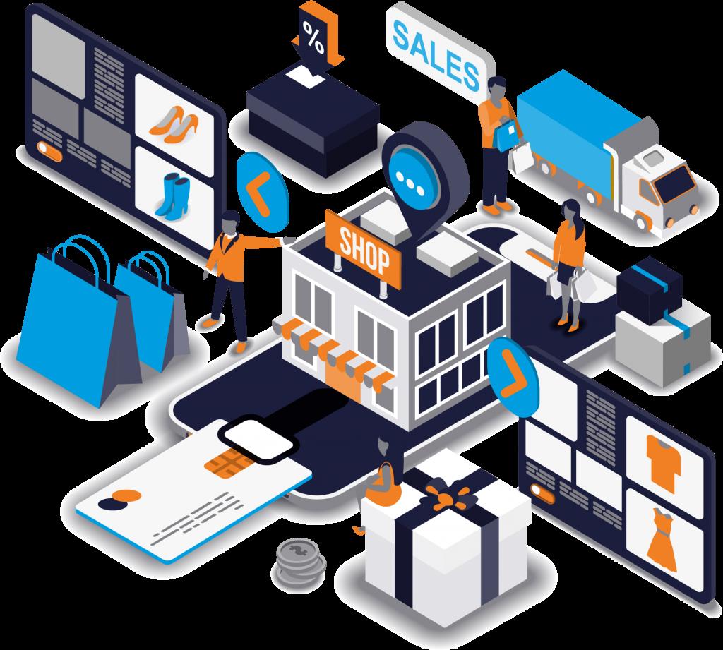 B2B E-Commerce einfache schematische Darstellung
