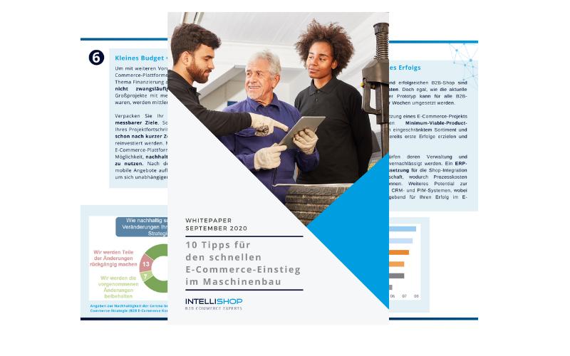 """3 Seiten aus dem Whitepaper """"10 Tipps für E-Commerce im Maschinenbau"""""""