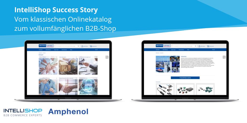2 Laptops mit Onlineshop von Amphenol
