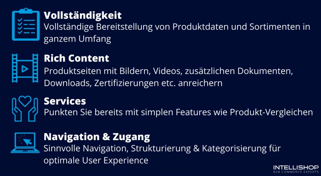 Anforderungen an einen Online-Katalog